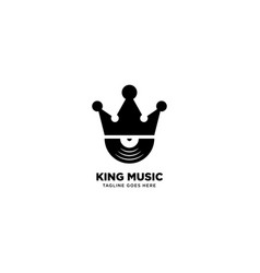 King music logo template icon element vector