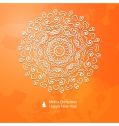 Lacy paper Christmas circular elements vector