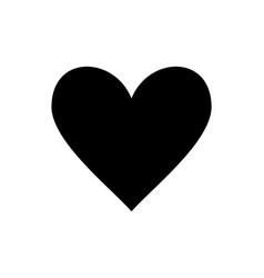 love heart icon black silhouette isolated on vector image