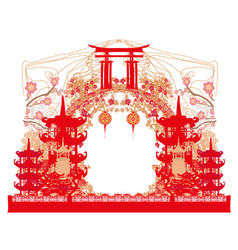 mid-autumn festival for chinese new year - frame vector image