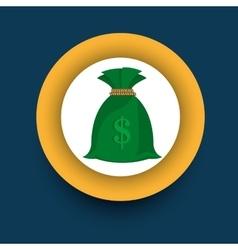 Money green sack vector
