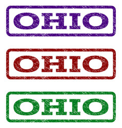 ohio watermark stamp vector image