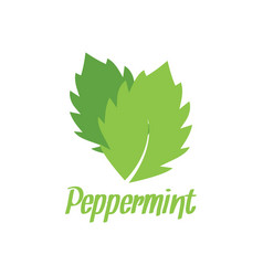 peppermint logo design inspiration vector image