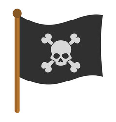 pirate flag icon isolated vector image