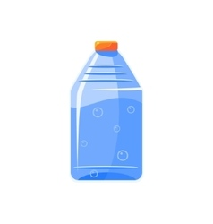 Plastic Bottle With Clear Water Simplified Icon vector image