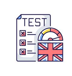 Proficiency english test rgb color icon vector