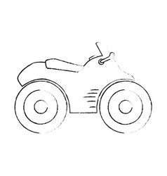 Quad motorcycle icon vector