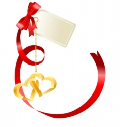 red bow with label vector image