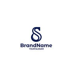 S water logo design vector