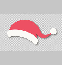 santa hat isolated on transparent background vector image