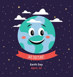 save our planet banner template for earth day vector image