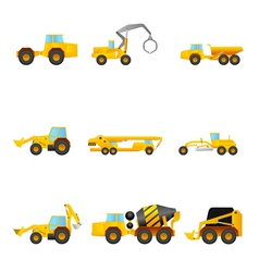 Set of Building machines vector