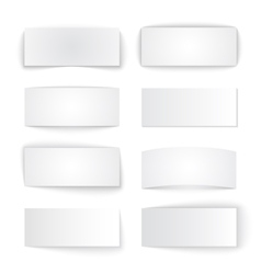 Set of isolated blank paper banners with vector image