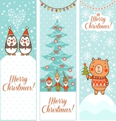 Set of vertical Christmas banners vector image