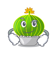 Smirking plant notocactus magnifica on character vector