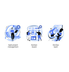 software development company abstract concept vector image