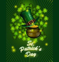 st patricks day greeting happy st patricks vector image vector image