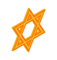 Star of David icon isometric 3d style vector image