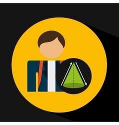 Student uniform school geometri triangle design vector