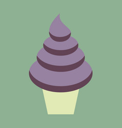 Sweet dessert in flat design ice cream cone vector