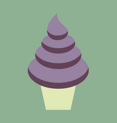 Sweet dessert in flat design ice cream cone vector
