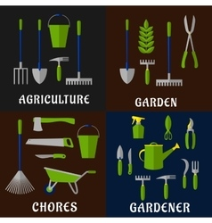 Tools for agriculture and gardening work vector image