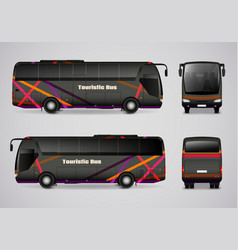 Touristic bus from all sides vector