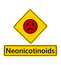 Traffic sign bad smiley for neonics vector