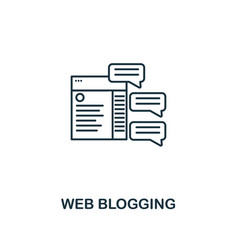 web blogging icon thin line style symbol from vector image