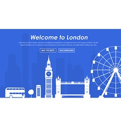 Welcome to London banner vector image