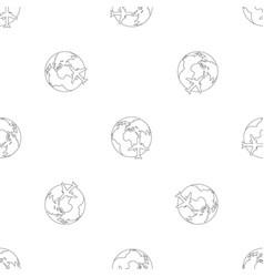 world tourism pattern seamless vector image