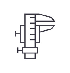 caliper tool linear icon sign symbol on vector image