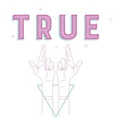 crossed fingers a symbol of true vector image