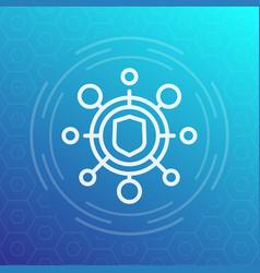 cyber attack icon pictogram vector image vector image