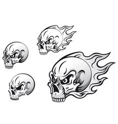 danger evil skulls vector image