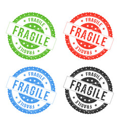 fragile seals vector image