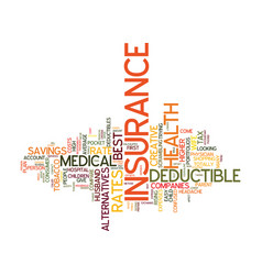medical insurance rate why does it change and how vector image vector image