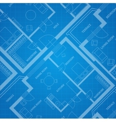 plan blue print Architectural background vector image