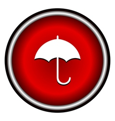 umbrella red modern web design circle icon vector image