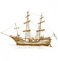 vintage sailboat vector image vector image