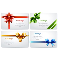 Beautiful business cards vector image