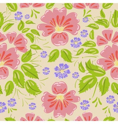Khokhloma Floral Pattern vector image vector image
