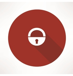 old lock icon vector image vector image