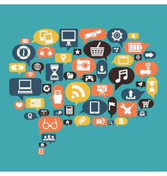 Concept of content social media vector image vector image