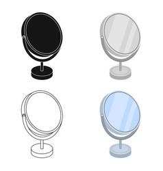 desk mirrorbarbershop single icon in cartoon vector image vector image