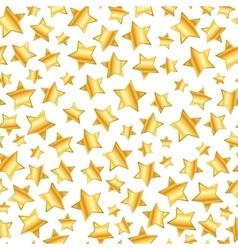 golden stars on white seamless pattern vector image vector image