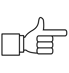 hand pointing symbol vector image vector image