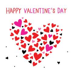happy valentine day sweetheart cartoon vector image vector image