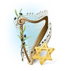 harp of David vector image vector image