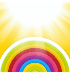 Rainbow Colored Circles Shiny Background Abstract vector image vector image
